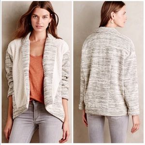 Anthropologie Moelleux Collared Sherpa Sweater